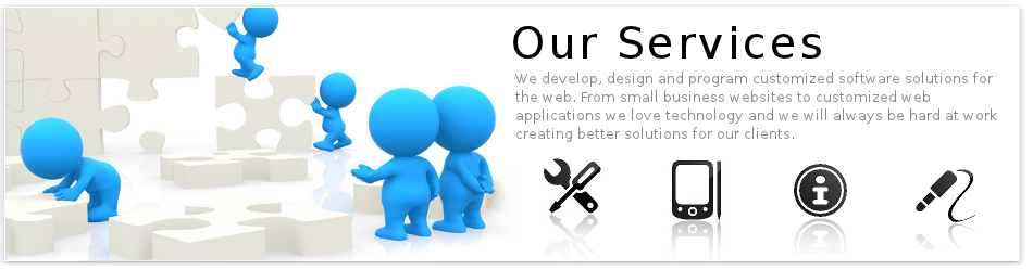 We develop, design and program customized software solutions for the web. From small business websites to customized web applications we love technology and we will always be hard at work creating better solutions for our clients.